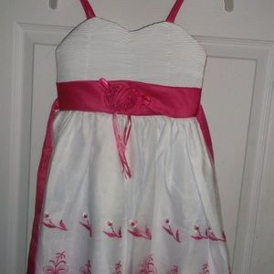 Other - White & Pink Party Dress Girl Size 5 NWT